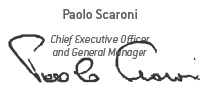Signature of Paolo Scaroni, Chief Executive Officer and General Manager